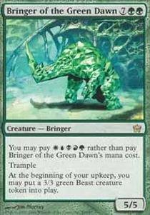 Fifth Dawn Game Card - Magic: the Gathering - Bringer of the Green Dawn - Fifth Dawn