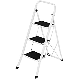 Best Choice Products Portable Folding 3 Step Ladder Steel