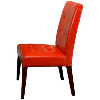 Good Best Selling Burnt Orange Tufted Dining Chair, 2 Pack