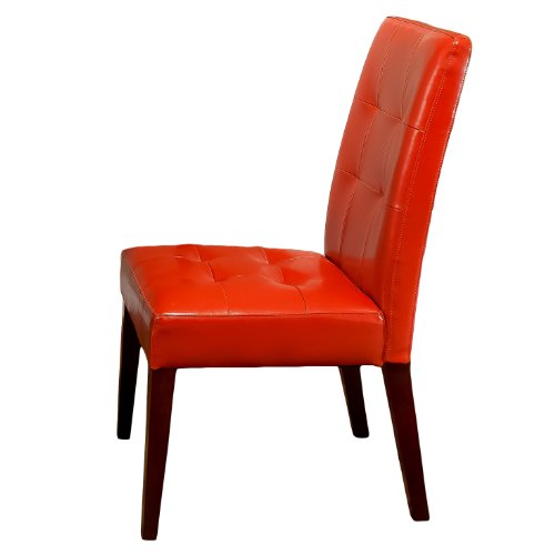 Best Selling Burnt Orange Tufted Dining Chair, - Orange Faux Chair Leather