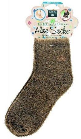 Earth Therapeutics Socks, Aloe Infused, Brown, Pair ( Multi-Pack)