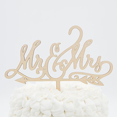 Mr & Mrs Wooden Wedding Cake Topper (Mr & Mrs Arrow)
