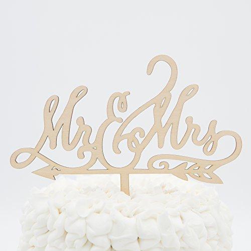 Mr & Mrs Wooden Wedding Cake Topper (Mr & Mrs Arrow)