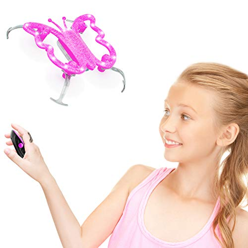 Force1 Hand Controlled Drone for Kids - Monarch Butterfly Drone, Butterfly Toys, Pink Toys for Girls and Boys w/Hand Operated Mini Drones Remote (Pink)