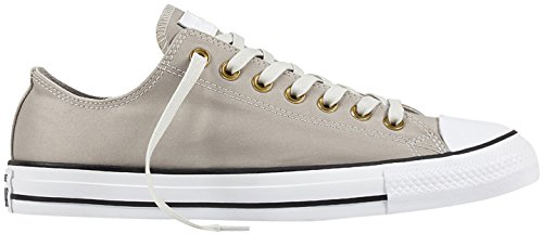Converse All Star Chuck Taylor Mens Ox Mouse/White/Black Trainers Gris