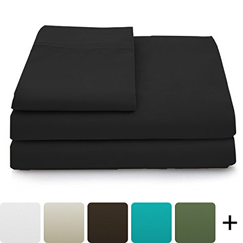 Cosy House Collection Luxury Bamboo Bed Sheet Set - Hypoallergenic Bedding Blend from Natural Bamboo Fiber - Resists Wrinkles - 4 Piece - 1 Fitted Sheet, 1 Flat, 2 Pillowcases ()