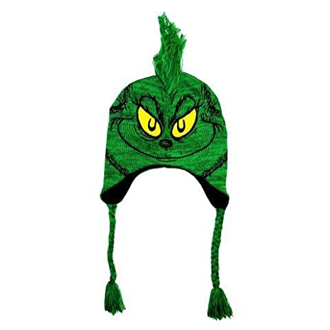 Dr. Seuss The Grinch Peruvian Knit Hat  Amazon.ca  Luggage   Bags aa5372142f9