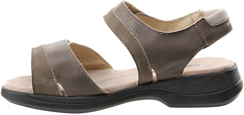 Cosyfeet Cher Sandals - Extra Roomy (Eeeee+ Width Fitting) Lichen Leather/Nubuck Gvaytqrv