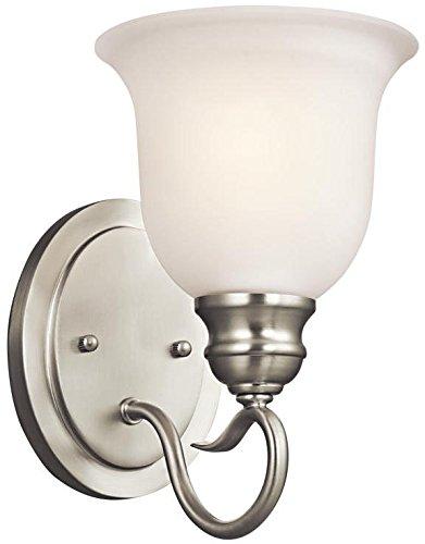 Kichler 45901NI Tanglewood Wall Sconce 1-Light, Brushed Nickel
