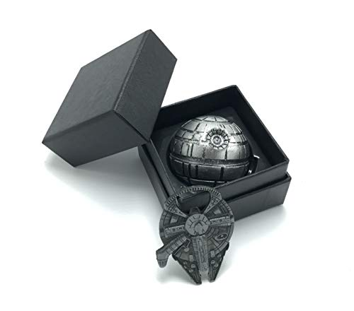(Trusted Buddy Happy Time Star Wars Spice Herb Tobacco 3 Part Grinder with Millennium Falcon Bottle Opener )