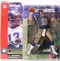 McFarlane Toys NFL Sports Picks Series 1 Action Figure Kurt Warner (St. Louis Rams) Blue Jersey Variant
