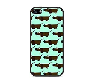 Dachshunds Aqua iPhone 5 Case Fits iPhone 5