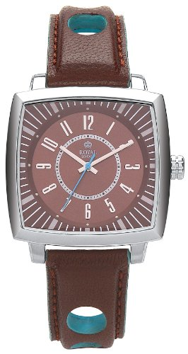 Royal London Men's Quartz Watch with Brown Dial Analogue Display and Brown Leather Strap 41086-01