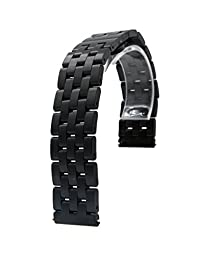 22mm Stainless Steel Quick Release Chain Watch Band Strap For Asus Zenwatch 2nd 2 Gen Generation (Black)