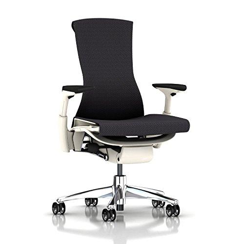 Herman Miller Embody Chair: Fully Adj Arms - White Frame/Alu