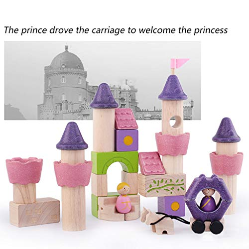 HXGL-Toys Wooden Toy Fairy Tale Castle Children's Gift Early Education Puzzle 3-6 Prince Princess (Color : Pink) by HXGL-Toys (Image #3)