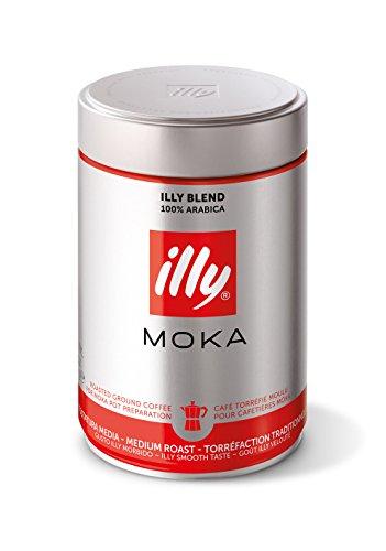 illy Medium Roast Ground Moka Coffee for Stovetop - Illy Mocha Coffee