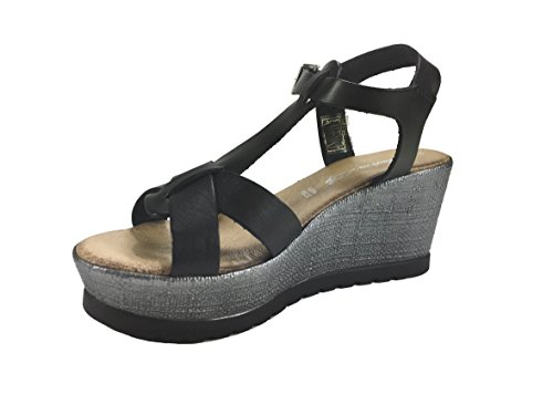 Fashion 6Carina Women's 6Carina Black Women's Sandals q6HS4Z1