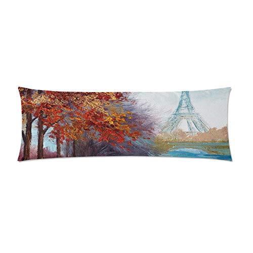C COABALLA Art Comfortable Rectangular Pillowcase,Eiffel Tower View