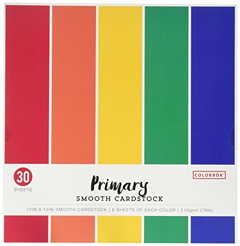 12 Cardstock Multi Pack - Colorbok 68207B Smooth Cardstock Paper Pad, 12