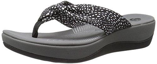 clarks-womens-arla-glison-flip-flop-black-white-dots-fabric-8-m-us