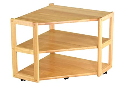 Amazoncom Winsome Wood Corner Tv Stand Natural Kitchen Dining
