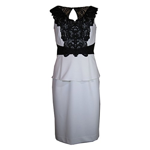 Lily Melani Sheath Lace Sleeveless Contrast Antonio Dress 0Rd5wqqx