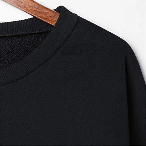 Manches Femmes Outwear large Sweat Taille Pull Noir Hauts Hiver Top Pardessus Longues coloré Jumper Court Ensemble Capuche Dames Et Rayé Mode Automne Xx Noir Crop À wPYv4v