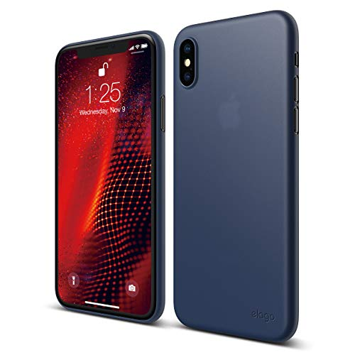 elago Inner Core Series iPhone Xs case [Jean Indigo] - [Thinnest and Lightest][Support Wireless Charging][Only Protects Against Scratches] Compatible with iPhone Xs (2018)