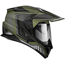 Zoan Synchrony Tourer Camo Green Double Lens Dual Sport Snowmobile Helmet X-Small