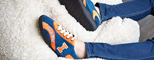 Happy NCAA Feet College Womens Illini All Slippers and Illinois Mens Around aXxarqI