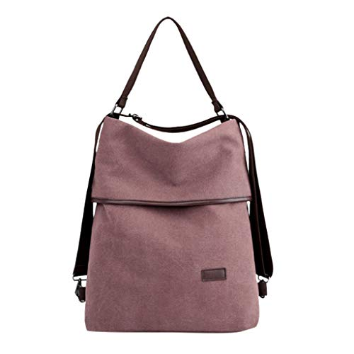 YEZIJIN Women Men Canvas Large Capacity Backpack Travel Bags Single Shoulder Schoolbag Under 20