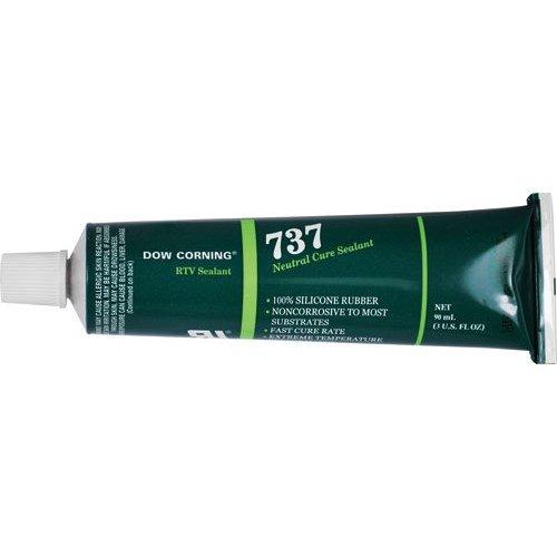 Dow Corning 737 Neutral Cure RTV Sealant, Clear, 3 oz. Tube