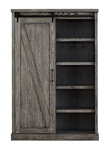 Martin Furniture, Grey (Library Bookcases Wall With Ladder)