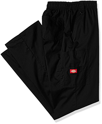 Dickies Men's Big Signature Elastic Waist Scrubs Pant, Black, X-Large Tall ()