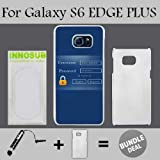 Admin Login Custom Galaxy S6 EDGE PLUS Cases-White-Plastic,Bundle 2in1 Comes with Custom Case/Universal Stylus Pen by innosub