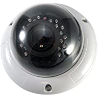 Evertech Security Camera 700tvl Indoor/outdoor Vandal Weatherproof Dome Camera 1/3 Sony HAD Ccd, 2.8-12mm Wide Angle Zoom Lens