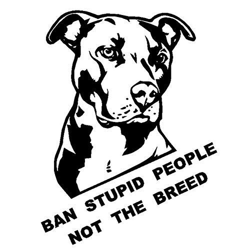 YUSHHO56T Car Sticker External Decoration Car Sticker Ban Stupid People Not The Breed Bulldog Car Motorcycle Sticker Decal Decoration - Black