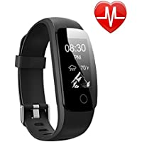 Fitness Tracker HR , Letsfit Activity Tracker Watch with Heart Rate Monitor, IP67 Water Resistant Pedometer, Calorie and Step Counter Watch for Android & iOS