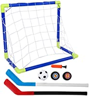 Ice Hockey Puck Set, Wear-Resistant 2 in 1 Lightweight Ice Hockey Set, for Kids Toy Outdoor