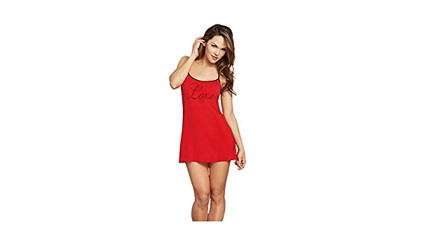 ff33ff25108 Amazon.com  Dreamgirl Women s Jersey  Love  Chemise  Clothing