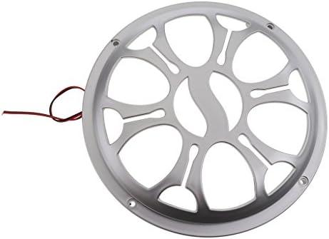 12V ライト付き スピーカー装飾カバー 保護カバー スピーカーグリル スペーサー 6.5/8インチ 全2サイズ - 8インチ