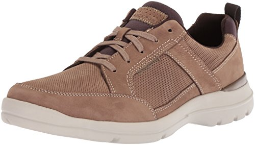 Taupe Nubuck Footwear - Rockport Men's City Edge Lace Up Shoe, taupe nubuck, 10.5 W US