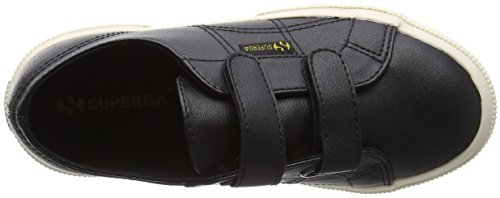 Superga 2750 - Microfiberpuvj, Unisex-Kinder Sneakers Schwarz (Black)