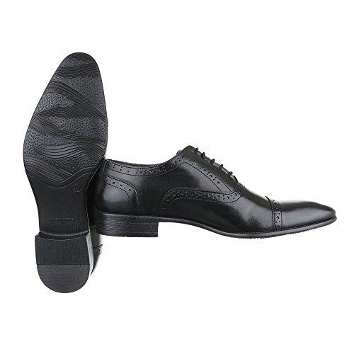 Ital-Design - Zapatillas de Material Sintético para hombre negro