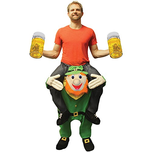 Morph Unisex Piggy Back Leprechaun Piggyback Costume - With Stuff Your Own Legs -