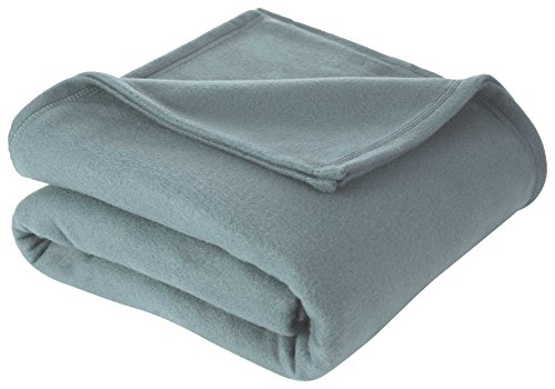 (Martex Super Soft Fleece Blanket - Full/Queen, Warm, Lightweight, Pet-Friendly, Throw for Home Bed, Sofa & Dorm - Dusty Blue)