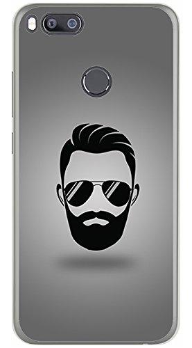 Tumundosmartphone Funda Gel TPU para XIAOMI MI 5X / MI A1 diseño Barba Dibujos