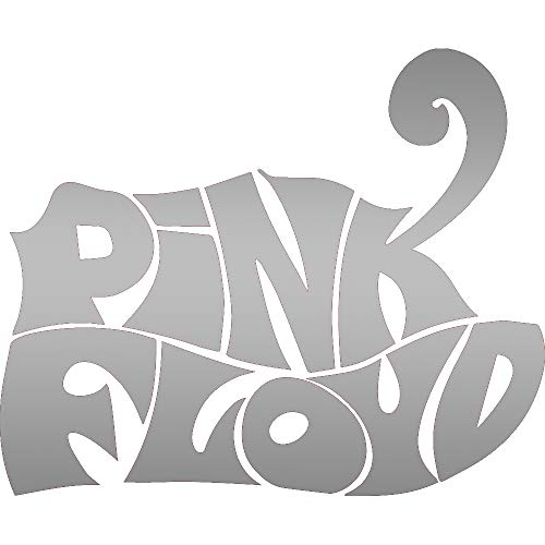 (ANGDEST The Pin Floyd Icon Pink Floyd (Metallic Silver) (Set of 2) Premium Waterproof Vinyl Decal Stickers for Laptop Phone Accessory Helmet Car Window Bumper Mug Tuber Cup Door Wall Decoration)