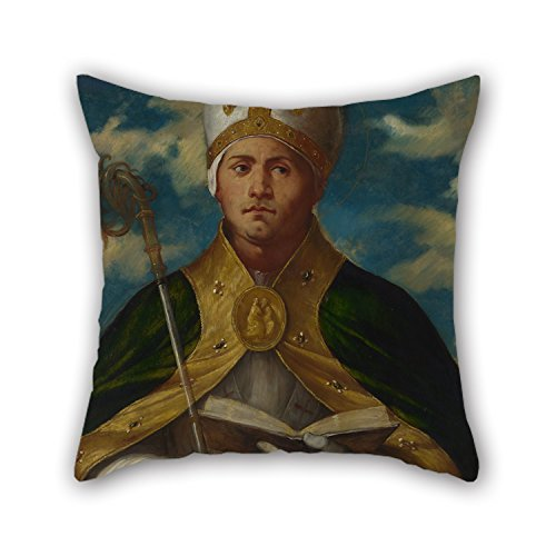 Slimmingpiggy Oil Painting Girolamo Romanino - Saint Gaudioso Pillow Shams 16 X 16 Inches / 40 By 40 Cm Gift Or Decor For Festival,monther,lounge,pub,home,coffee House - Twice Sides